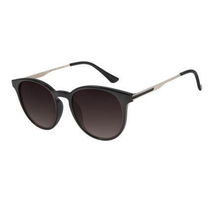 Óculos De Sol Unissex Lollapalooza Redondo Preto OC.CL.3013-2001