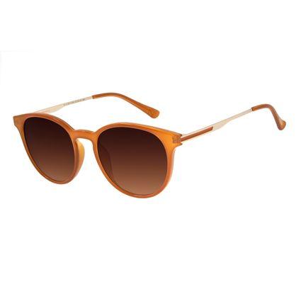 Óculos De Sol Unissex Lollapalooza Redondo Amarelo OC.CL.3013-5709