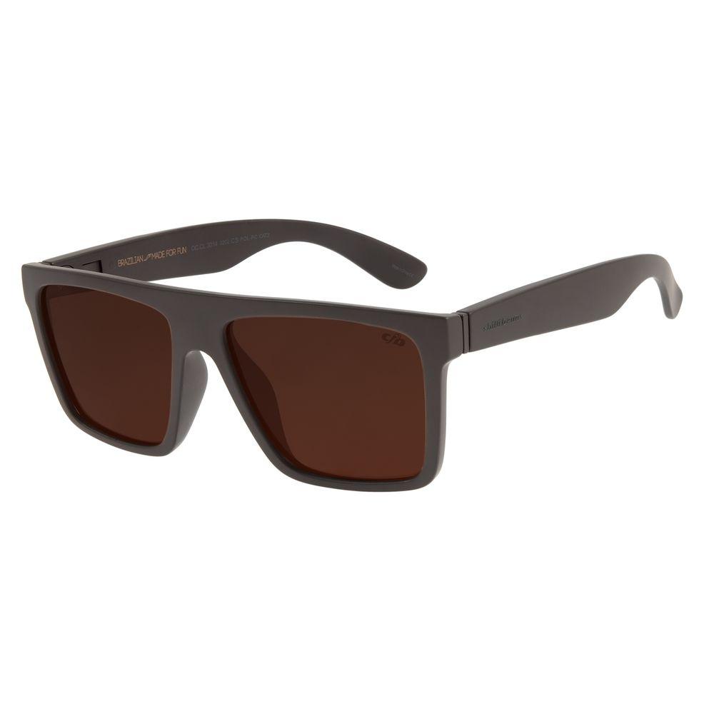 Óculos de Sol Masculino Lollapalooza Lisztomania 2 Em 1 Marrom OC.CL.3014-0202