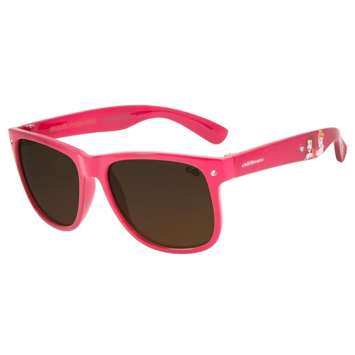 Oculos De Sol Infantil Disney Princesas Rosa Shine Oc Kd 0643 5713