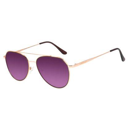 Óculos de Sol Unissex Lollapalooza Lollaviator Aviador Rosê OC.MT.2816-2095
