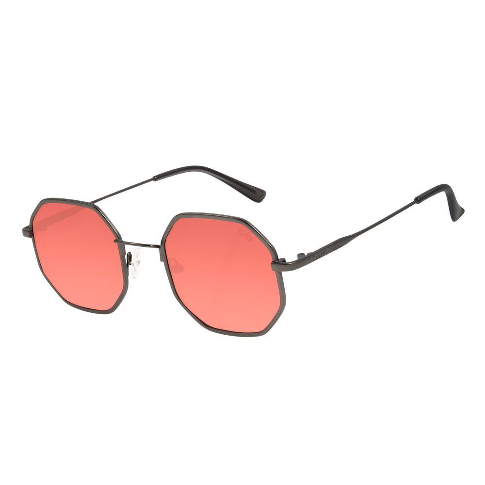 Óculos de Sol Unissex Lollapalooza Hexagonal Ônix OC.MT.2817-1622
