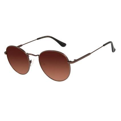 Óculos de Sol Unissex Lollapalooza Melomania Redondo Marrom OC.MT.2820-5702