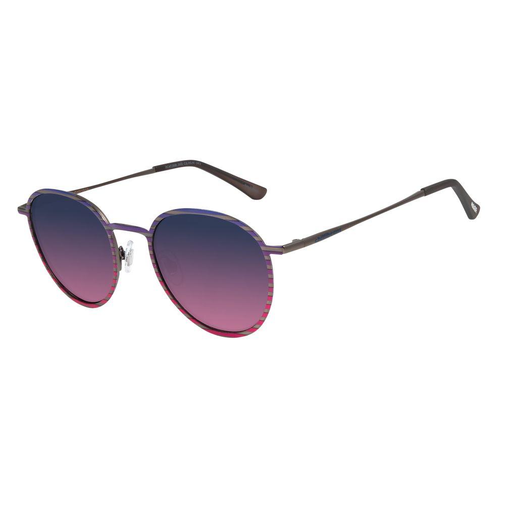 Óculos de Sol Unissex Lollapalooza Sunset Redondo Ônix OC.MT.2839-2022