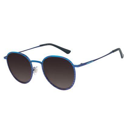 Óculos de Sol Unissex Lollapalooza Sunset Redondo Azul OC.MT.2839-2008