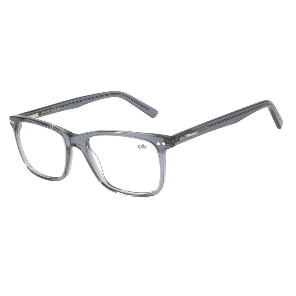LArmação para Óculos de Grau Masculino Chilli Beans Retangular Preto V.AC.0536-0101