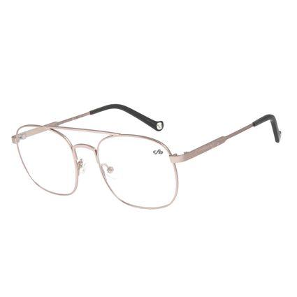 Armação para Óculos de Grau Unissex Aviador Rosa LV.MT.0322-1313