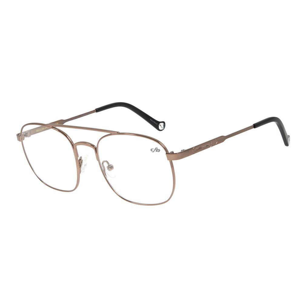 Armação para Óculos de Grau Unissex Aviador Marrom LV.MT.0322-0202