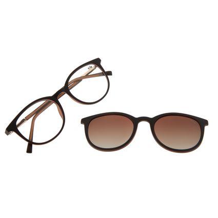 Armação Para Óculos De Grau Feminino Chilli Beans Multi Marrom Polarizado LV.MU.0316-2002