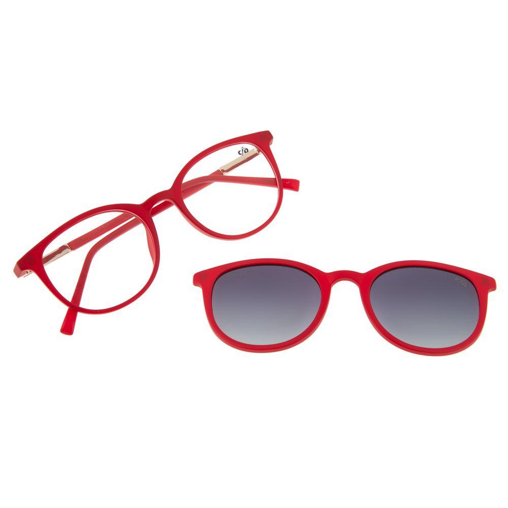 Armação Para Óculos De Grau Feminino Chilli Beans Multi Vermelho Polarizado LV.MU.0316-2016