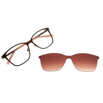 Armação Para Óculos De Grau Feminino Chilli Beans Quadrado Multi Marrom LV.MU.0325-2002