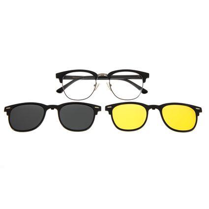 Armação Para Óculos De Grau Chilli Beans Multi Em Dobro Night Vision Preto  LV.MU.0341-0401