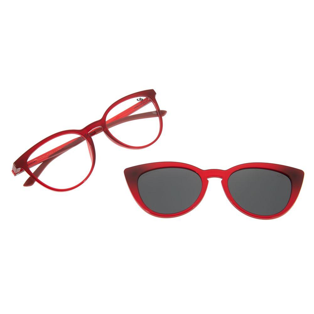 Armação Para Óculos de Grau Feminino Chilli Beans Multi Cat Vermelho Polarizado LV.MU.0264-0116