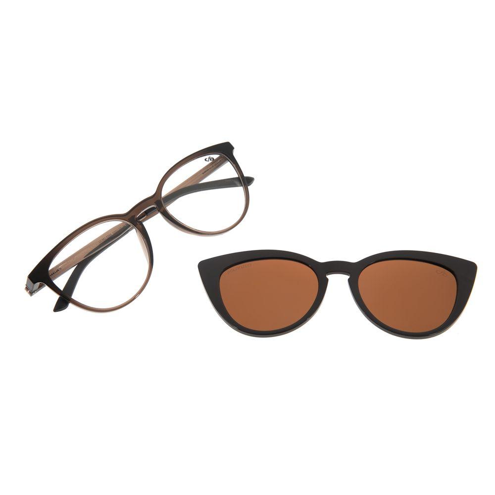 Armação Para Óculos de Grau Feminino Chilli Beans Multi Cat Marrom Polarizado LV.MU.0264-0201