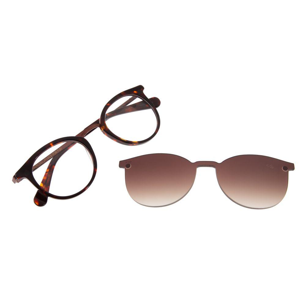 Armação Para Óculos De Grau Feminino Chilli Beans Redondo Multi Tartaruga LV.MU.0327-2006
