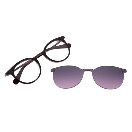 Armação Para Óculos De Grau Feminino Chilli Beans Redondo Multi Roxo LV.MU.0327-2014