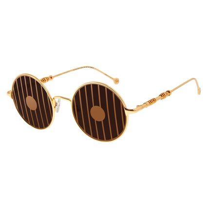 Óculos de Sol Unissex Star Wars Redondo Banhado A Ouro Dourado OC.MT.2721-0221