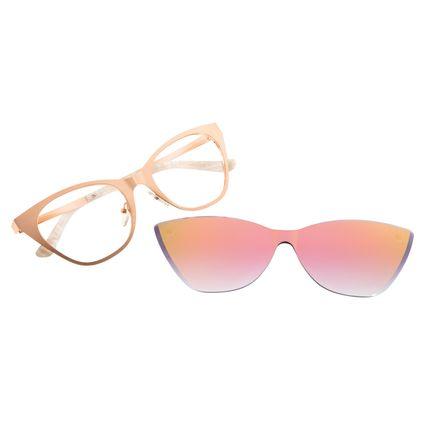 Armação Para Óculos de Grau Feminino Chilli Beans Multi Clip On Gatinho Rose  LV.MU.0257-9595