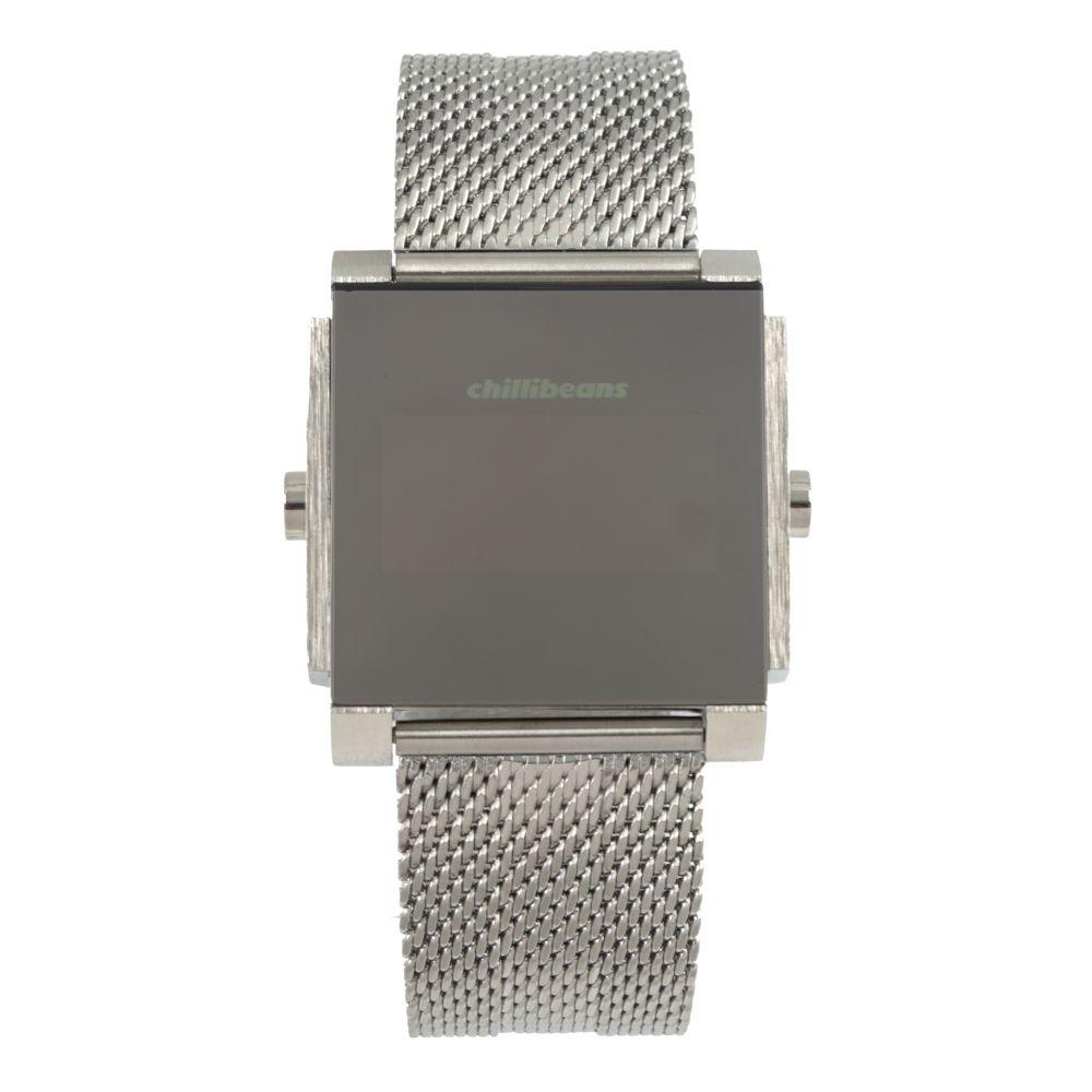 Relógio Digital Masculino Chilli Beans Metal Quadrado Prata .MT.0871-0707
