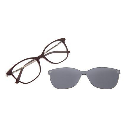 Armação Para Óculos de Grau Chilli Beans Quadrado Multi Vermelho LV.MU.0206-0416