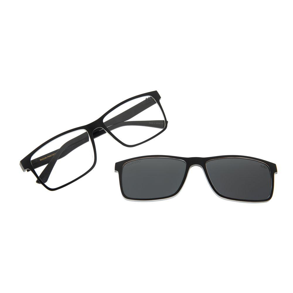 Armação Para Óculos De Grau Masculino Chilli Beans Retangular Preto Polarizado LV.MU.0354-0101