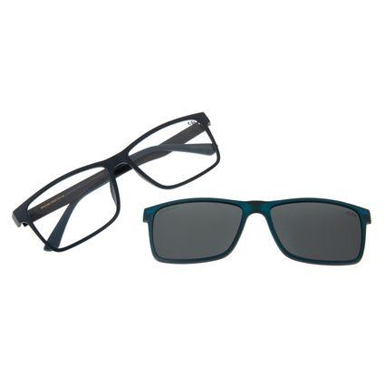 Armação Para Óculos De Grau Masculino Chilli Beans Azul Escuro Retangular Polarizado LV.MU.0354-0190