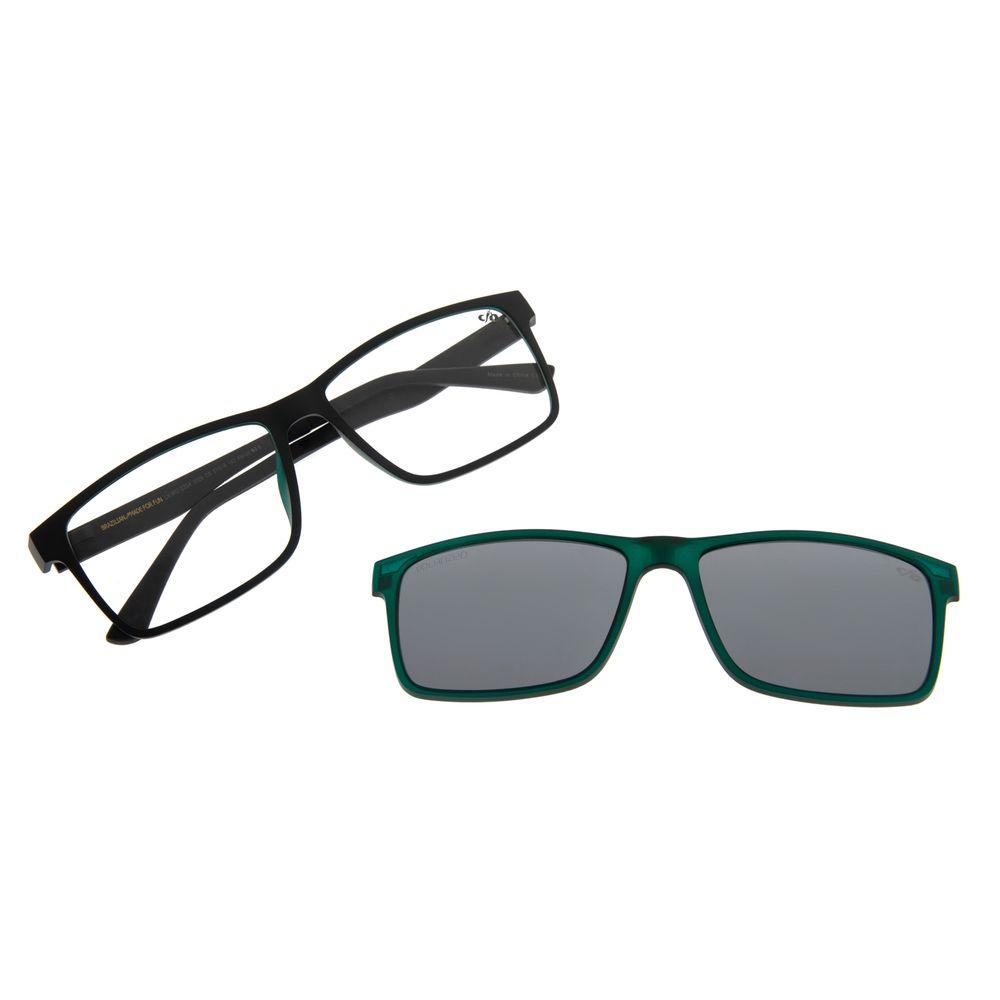Armação Para Óculos De Grau Masculino Chilli Beans Retangular Verde Escuro Polarizado LV.MU.0354-0026