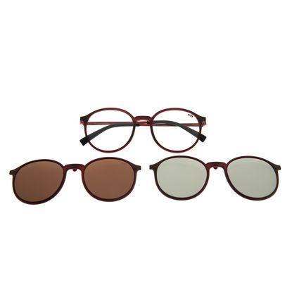 Armação Para Óculos De Grau Chilli Beans Masculino Multi Em Dobro Vinho LV.MU.0370-0217