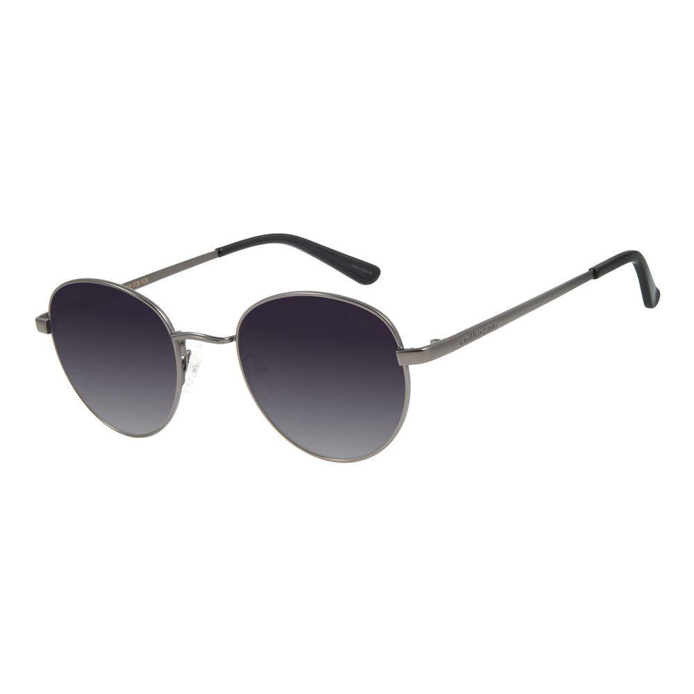 Óculos de Sol Unissex Chilli Beans Redondo Ônix OC.MT.2517-2022