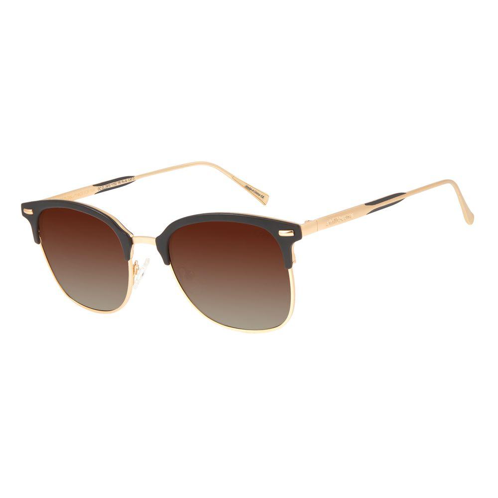 Óculos de Sol Unissex Chilli Beans Jazz Degradê Marrom Polarizado OC.CL.2970-5702