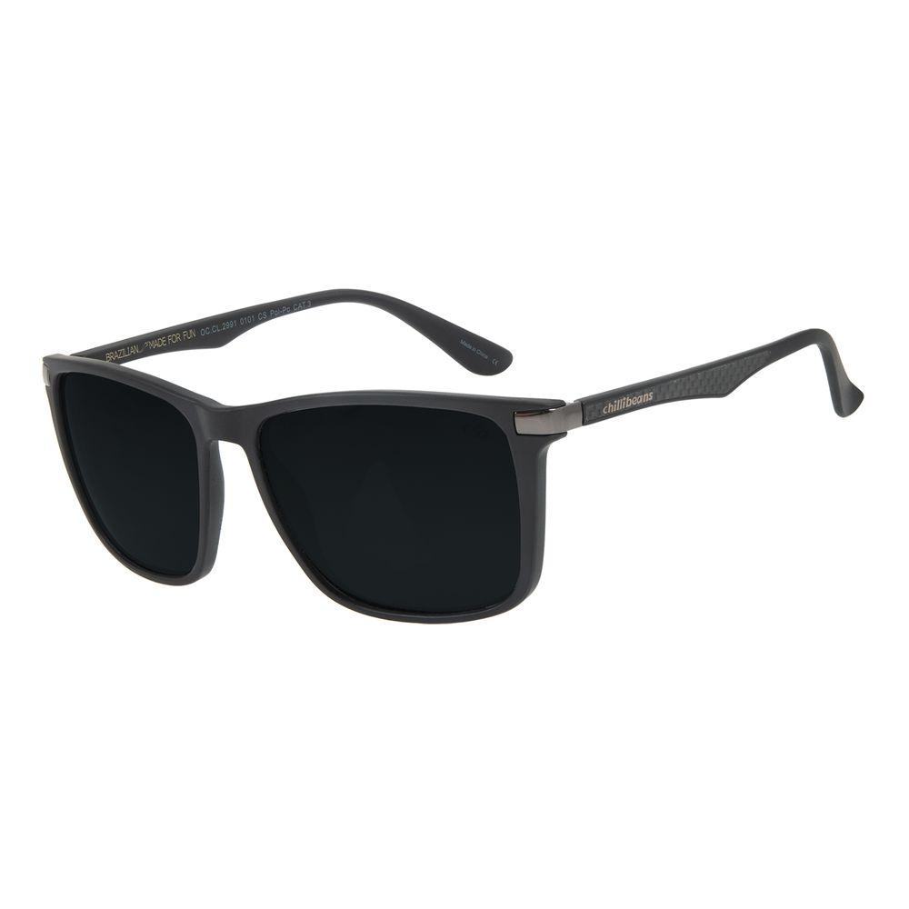 Óculos de Sol Masculino Chilli Beans Bossa Nova Preto Polarizado OC.CL.2991-0101