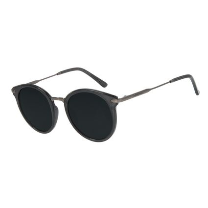 Óculos de Sol Feminino Chilli Beans Redondo Preto Polarizado OC.CL.3010-0101