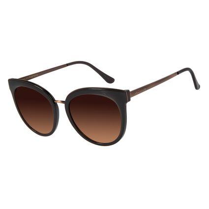 Óculos de Sol Feminino Chilli Beans Redondo Casual Marrom OC.CL.3012-5702