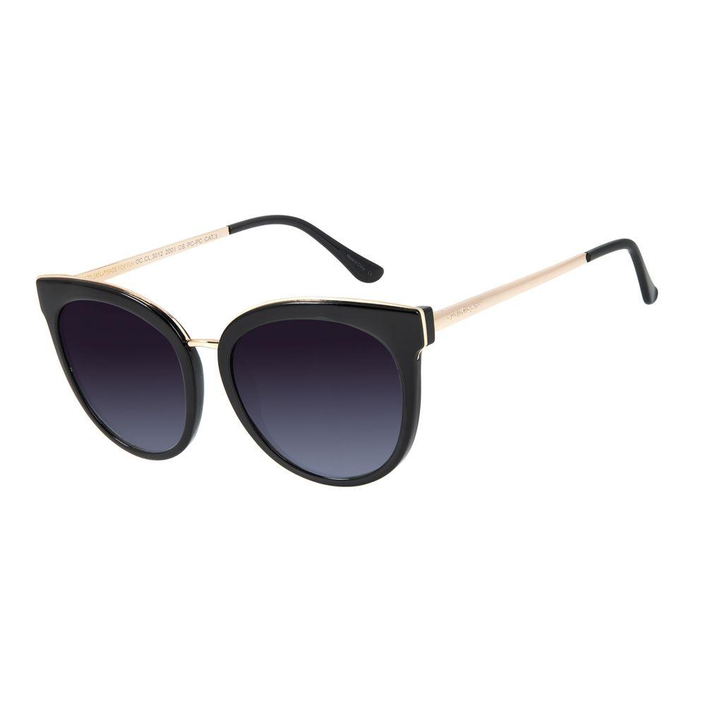 Óculos de Sol Feminino Chilli Beans Redondo Casual Preto OC.CL.3012-2001