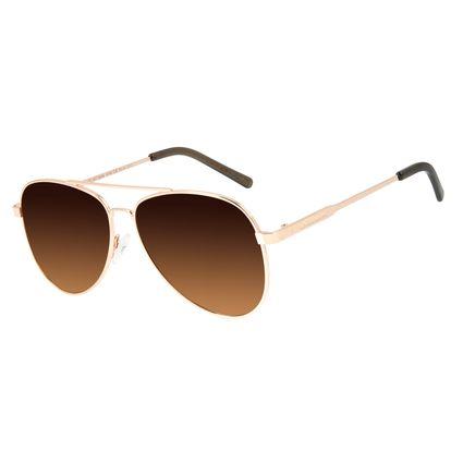 Óculos de Sol Unissex Chilli Beans Aviador Rosê OC.MT.2846-5795