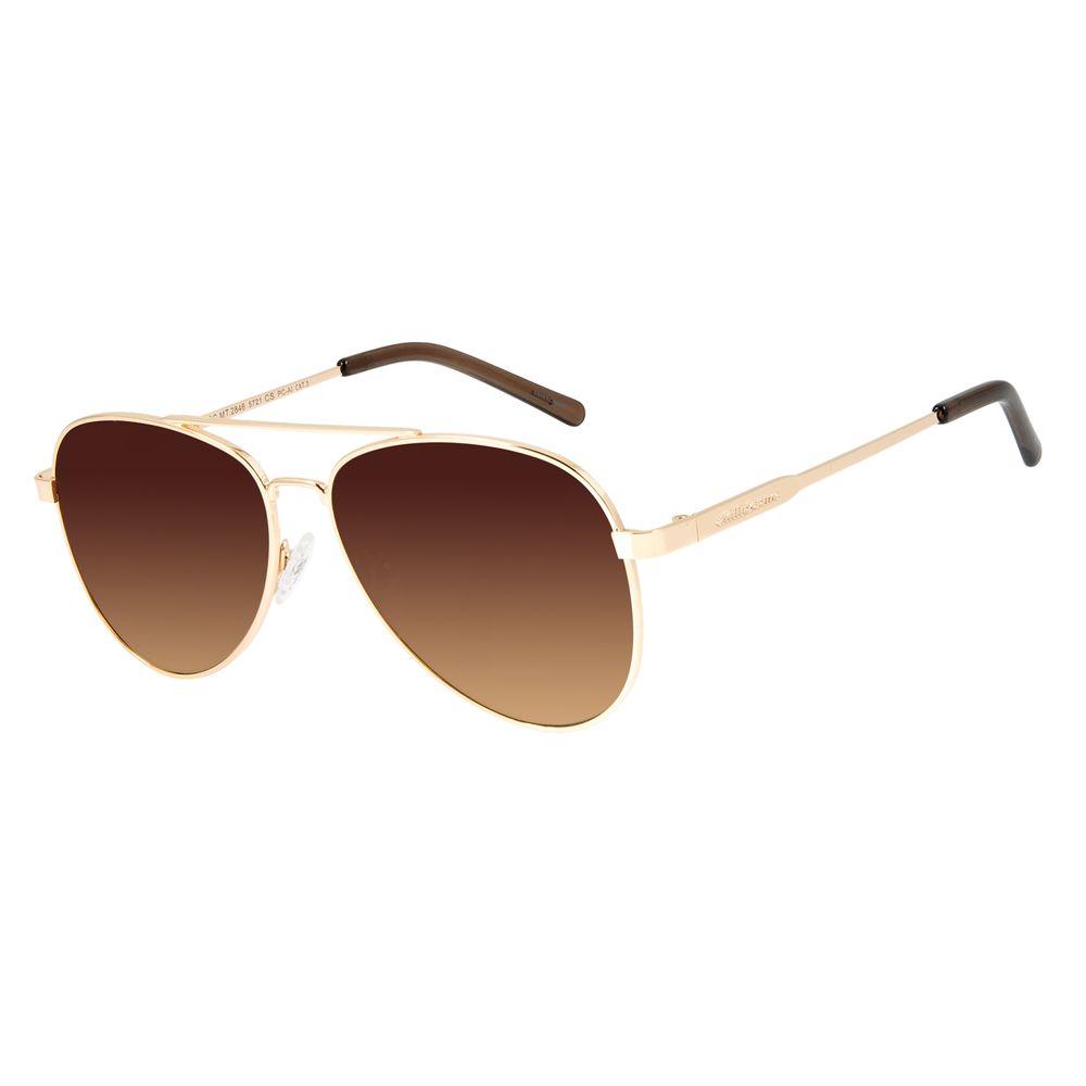 Óculos de Sol Unissex Chilli Beans Aviador Dourado OC.MT.2846-5721