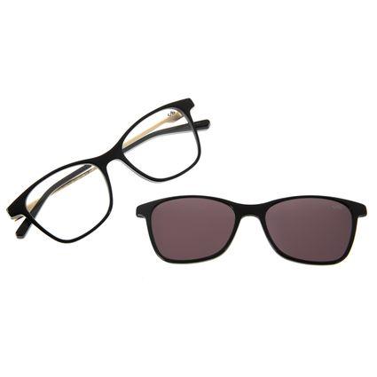 Armação Para Óculos De Grau Feminino Chilli Beans Quadrado Preto LV.MU.0204-0401