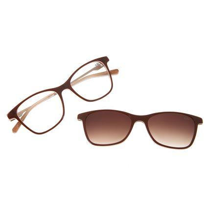 Armação Para Óculos De Grau Feminino Chilli Beans Quadrado Marrom Escuro LV.MU.0204-2047