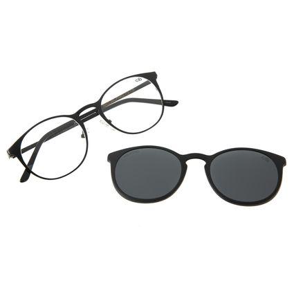Armação Para Óculos De Grau Feminino Chilli Beans Multi Redondo Polarizado Preto LV.MU.0224-0401