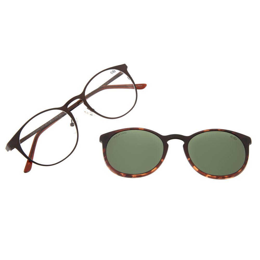 Armação Para Óculos De Grau Feminino Chilli Beans Multi Redondo Polarizado Verde LV.MU.0224-1547