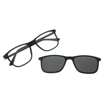 Armação para Óculos de Grau Masculino Chilli Beans Multi Retangular Polarizado Verde LV.MU.0358-0515
