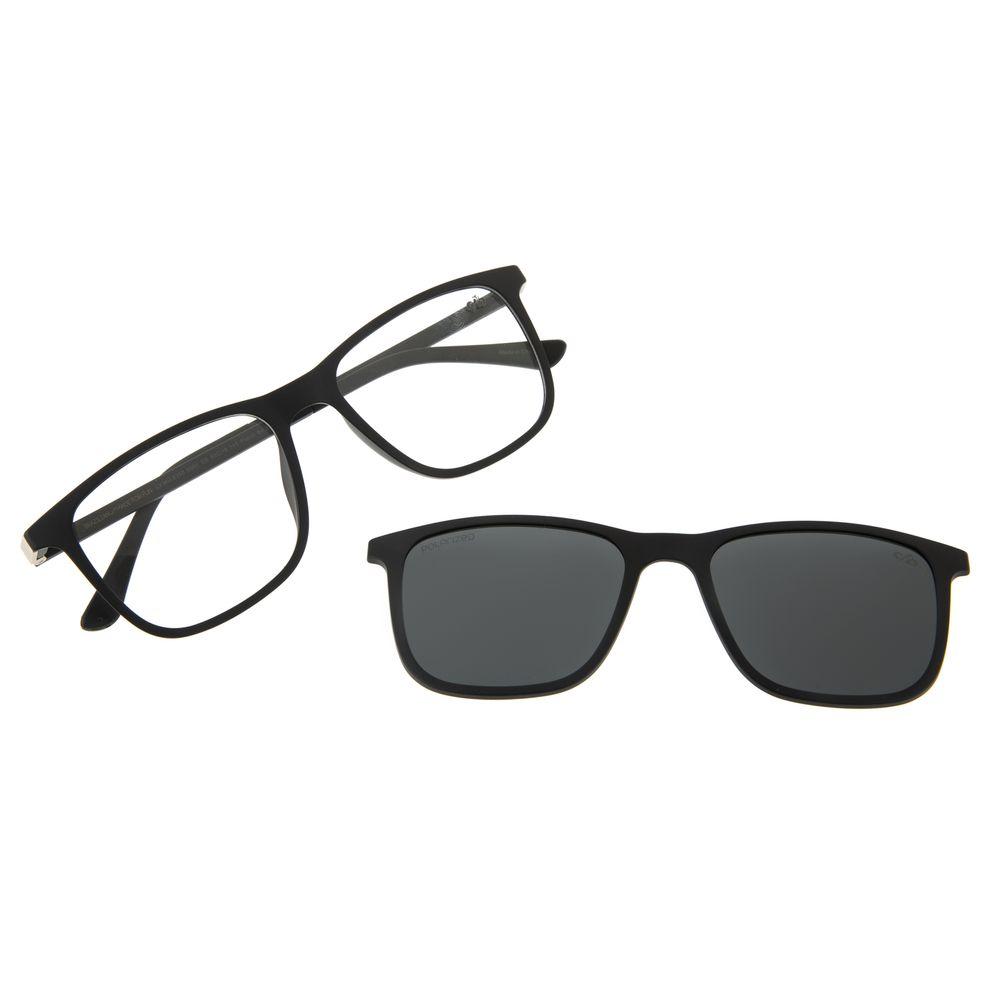 Armação para Óculos de Grau Masculino Chilli Beans Multi Retangular Polarizado Preto LV.MU.0358-0501
