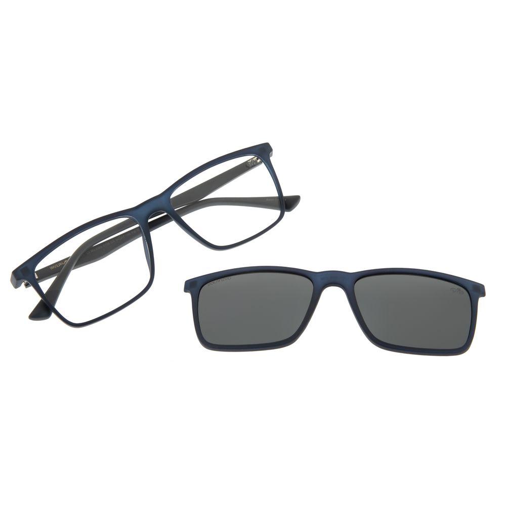 Armação Para Óculos De Grau Masculino Chilli Beans Multi Retangular Azul LV.MU.0366-0108