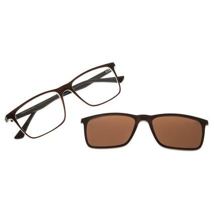 Armação Para Óculos De Grau Masculino Chilli Beans Multi Retangular Marrom LV.MU.0366-0202