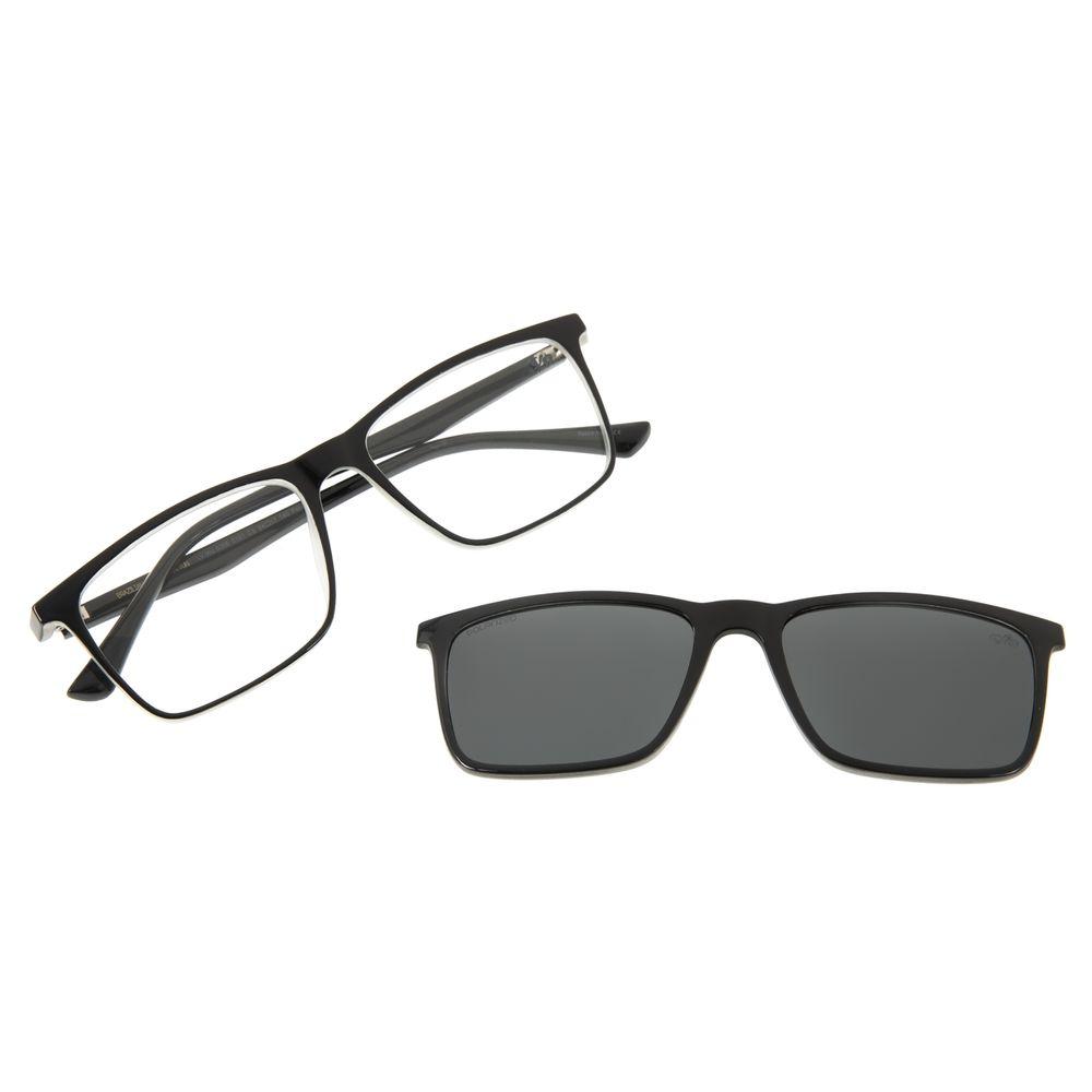 Armação Para Óculos De Grau Masculino Chilli Beans Multi Retangular Preto LV.MU.0366-0101