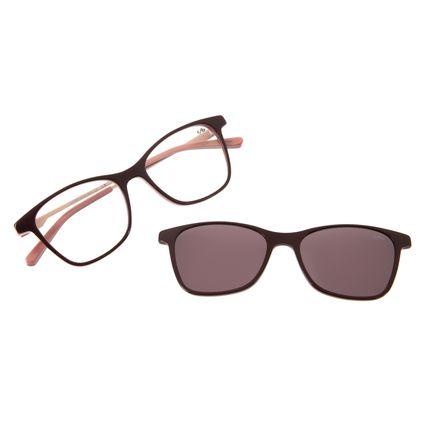 Armação Para Óculos De Grau Feminino Chilli Beans Quadrado Vinho LV.MU.0204-0417