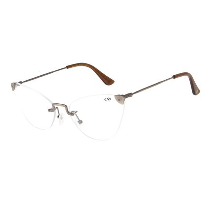 Armação Para Óculos de Grau Feminino Chilli Beans Casual Grafite LV.MT.0381-2424