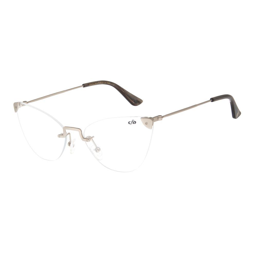 Armação Para Óculos de Grau Feminino Chilli Beans Casual Prata LV.MT.0381-0707
