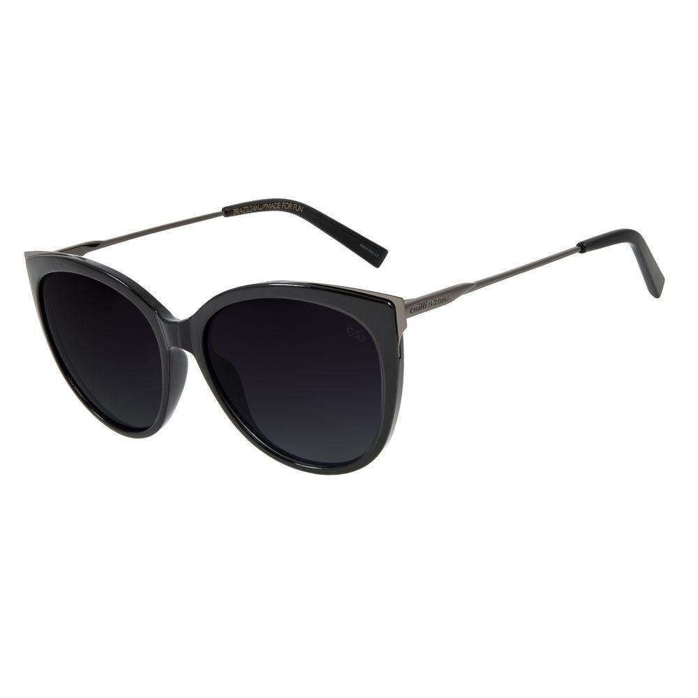 Óculos de Sol Feminino Chilli Beans Gatinho Preto Polarizado OC.CL.2997-2001