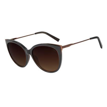 Óculos de Sol Feminino Chilli Beans Gatinho Marrom Escuro Polarizado OC.CL.2997-5747
